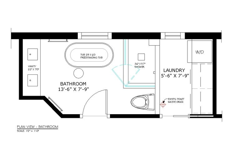 bathroom/laundry combo remodeling design   thinking that stacking the washer and dryer is still the best way ...