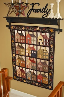 "Perhaps I should display my ""Army Brat"" quilt like this?"
