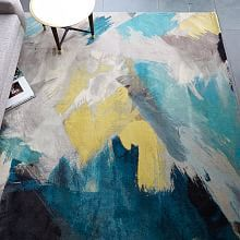 Rugs | west elm. If we use a teal or yellow accent, this would be a gorgeous rug for your bedroom