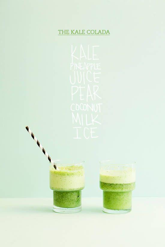 Kale colada. green shake recipe