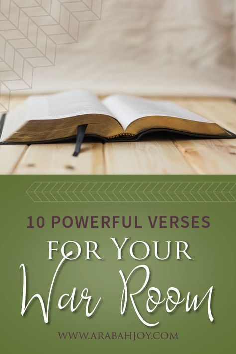Do you want to deepen your prayer life and do warfare like never before? These 10 powerful Scriptures will equip you for doing spiritual warfare. War room verses for your prayer time. #prayer #warroom #Scripture