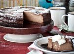 New York-Style Mocha Hazelnut Cheesecake