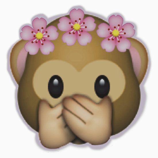 "Emoji Monkey Flower Crown Edit"" T-Shirts & Hoodies by ZannahP ..."