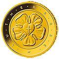 Goldmünze Lutherrose aus Deutschland 50 Euro 2017