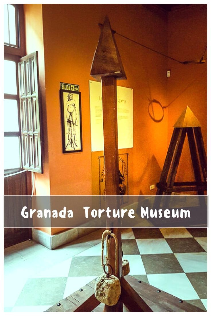 Granada is not just about the Alhambra. Looking for things to do in Granada. Visit the Spanish Inquisition Torture Museum. Learn how confessions and conversion to Christianity were enticed by medieval torture instruments. . . #Granada #Spain #Andalucia #IronMaiden  | Things to do in Granada | Granada attractions | Visit Granada | Granada Spain | Andalucia Spain | Museums in Granada | Granada history |