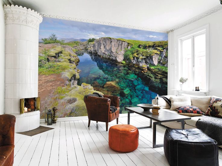 Wallpaper | Iceland mural from Pixars | Home Ideas magazine