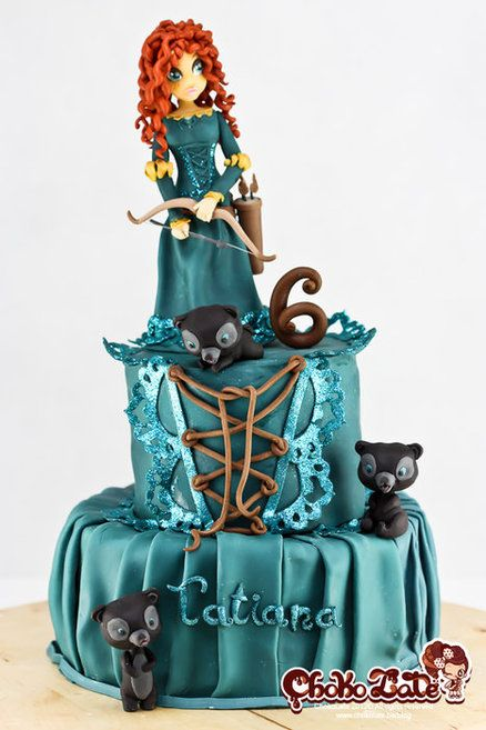 Cake made for my daughter who loves Merida's character. It was made all out of modelling chocolate. -- ChokoLate - www.facebook.com/ChokoLateFancyCakes