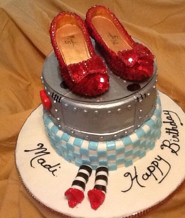 Ruby Slippers Birthday Cake