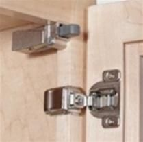 """SOFT CLOSE HINGE UPGRADE-These allow all your cabinet doors to quietly close and are the """"best bang for the buck"""". These are easily added to existing or new cabinets. For existing, simply screw these into the top corner of your cabinet face frame on the hinge side. For new cabinets they can be attached to the hinge or inside of the hinge. Many cabinet manufactures are now offering as a standard integrated into the hinge."""
