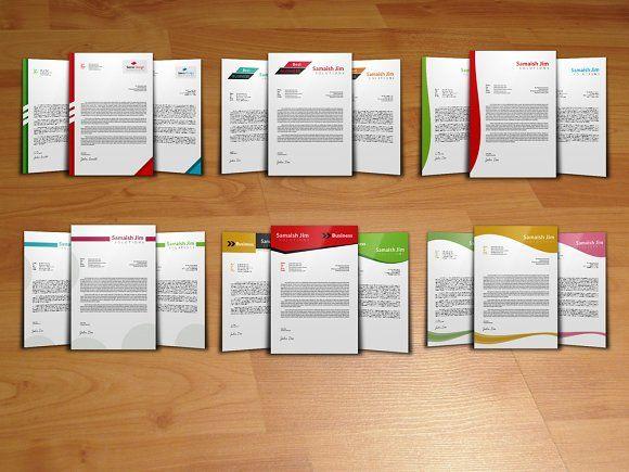6 Letterhead Template Bundle by Psd Templates on @mywpthemes_xyz