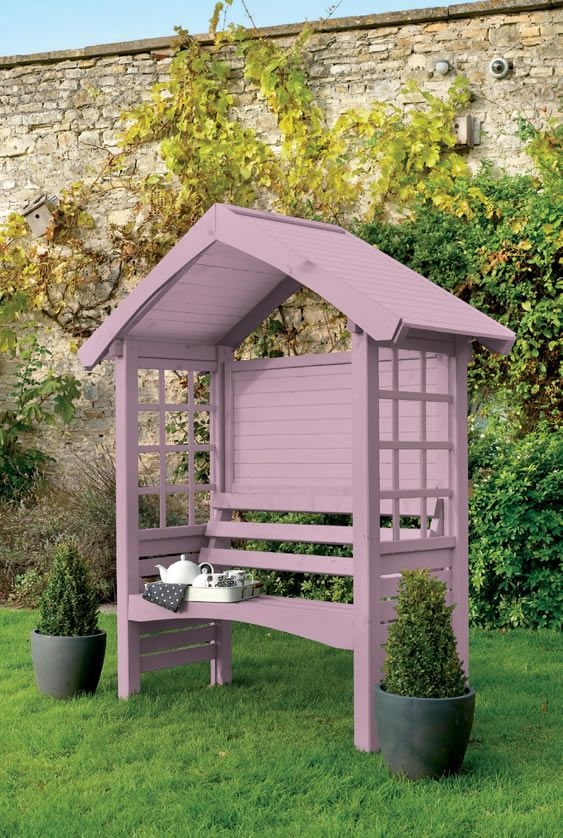 colour your garden with the cuprinol garden colour selector super cute and would be way cheaper of an idea for some shade