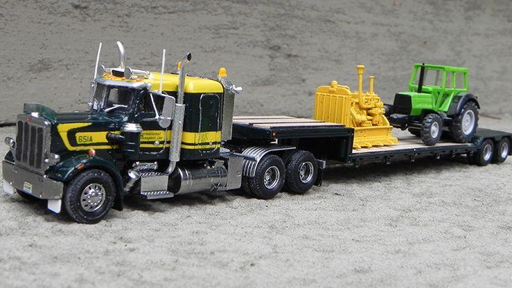 International Transport Peterbilt 359 Truck Tractor & 45' Double Drop Flatbed Trailer - By Jim Groeneweg