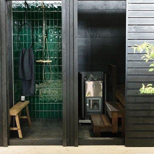Messuosastomme pihapiiristä löytyy myös tunnelmallinen saunarakennus. Tervetuloa Habitareen! #kannustalo #lato #habitare2015 #sauna @asunlehti @ullakoskinen