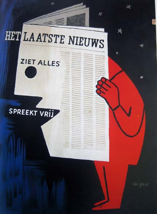 advertising poster by Raymond Savignac (1948)