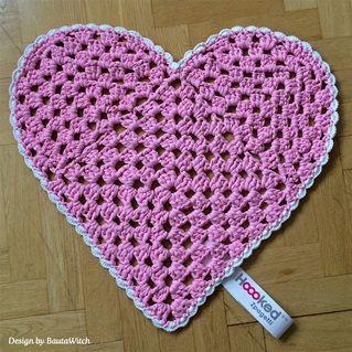 free pattern heart shaped crochet rug All Things Crochet ...