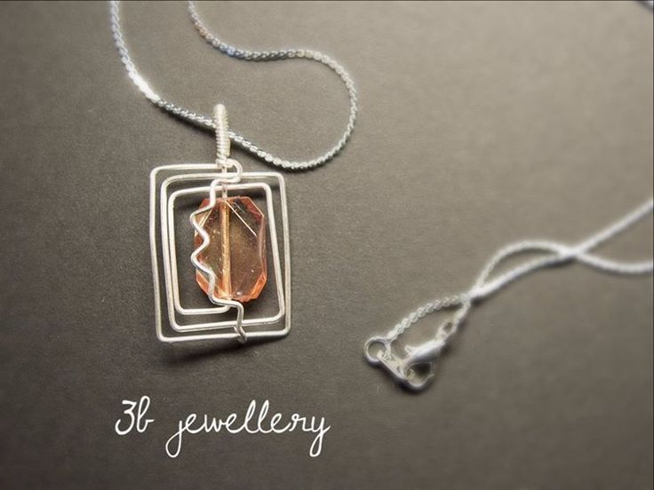 #translucent and #salmon #red for summer parties #3bjewellery #wirewrapping #beginner