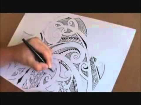 How to draw a Maori shoulder sleeve tattoo - YouTube