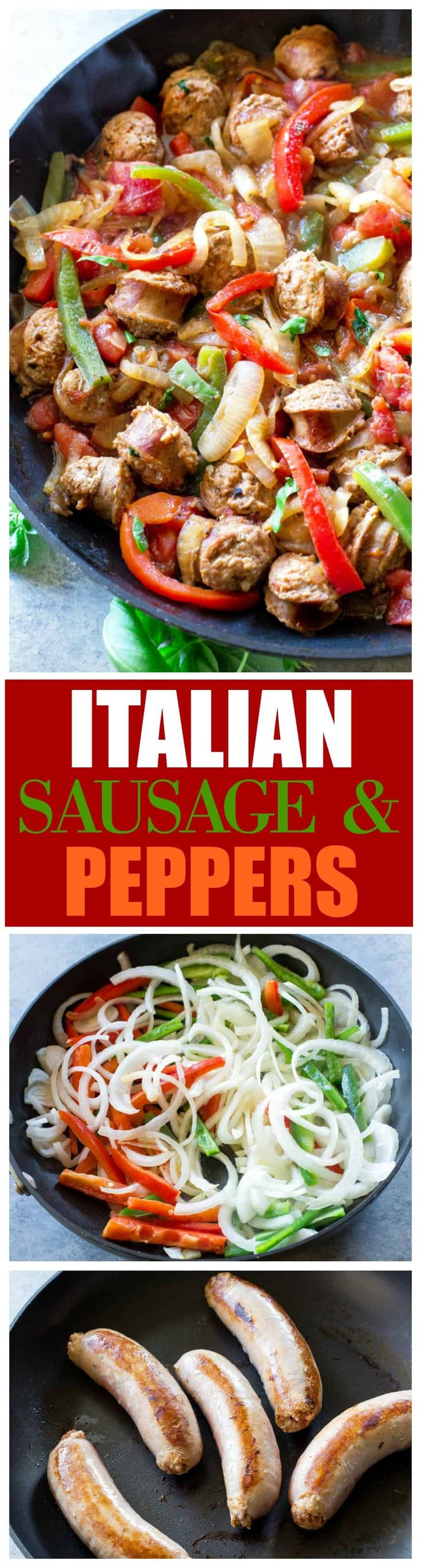 These Italian Sausage and Peppers are a hearty Italian dinner that's  restaurant quality