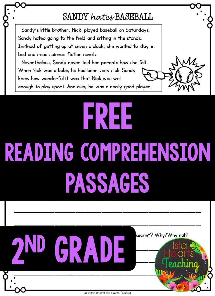 FREE READING COMPREHENSION PASSAGES #islaheartsteaching