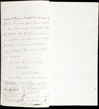 Photograph of a letter to Lord Glenelg.