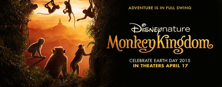 Disneynature Monkey Kingdom will be in theaters April 17th. This is a must see 2015 movie for the whole family to enjoy. The monkeys are too cute!