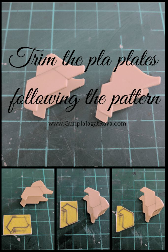Gunpa tutorial. Gunpla techniques on using pla plates.