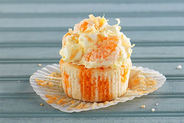 Tropical Coconut Poke Cupcakes   Spring is only a poke away with these Tropical Coconut Poke Cupcakes!