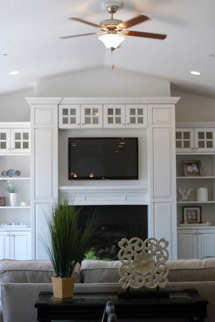 18 best fireplace tv combo images on pinterest home - Living room dining room with fireplace ...