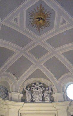 cupola del Borromini nella cappella dei Magi, Palazzo Propaganda Fide, Roma