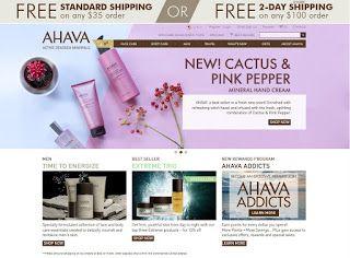 Почти все о покупках в американских интернет-магазинах. Интернет-магазины США. Инструкции.: - AHAVA - косметика Мертвого моря.