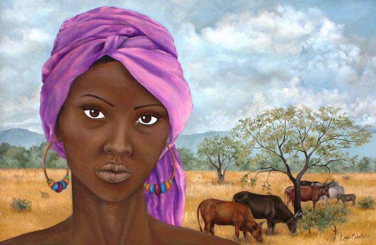 Tell me Your Secret, oil on canvas by Landi-Michelle van den Berg