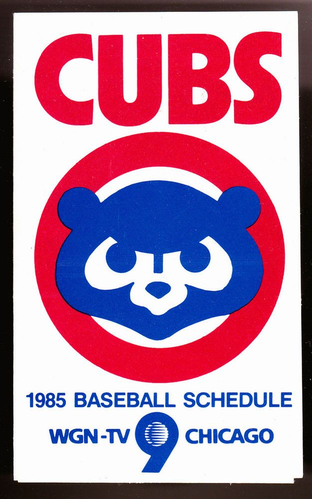 1985 CHICAGO CUBS WGN TV UNION 76 BASEBALL POCKET SCHEDULE FREE SHIPPING #Pocket