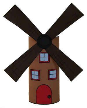 Manualidad con rollo de papel el molino de viento.El molino de viento es una manualidad divertida y simple de colorear, cortar y pegar papel que utiliza un rollo de papel higiénico como base para darle un efecto tridimensional