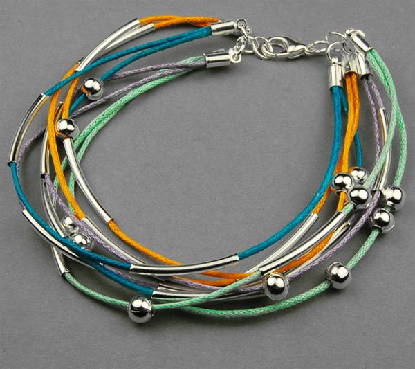 In this project, a splendid idea about bracelets for teenage guys has been prepared for most of our crafters, even beginners. Simple to do and currently popular stack pattern out of cotton wax cord!