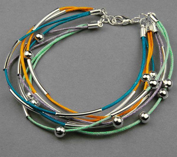 How to make a bracelet out of Cotton wax cord- cool bracelets for teenage guys - Pandahall.com