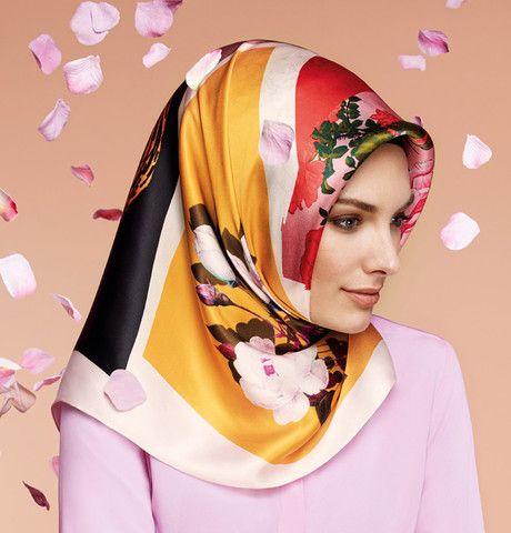 Armine Silk Hijab Scarf Spring Summer 2015 #6423 – Modefa USA