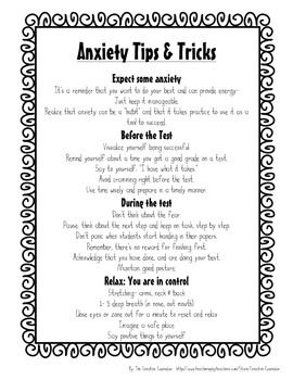 Printables Test Anxiety Worksheets 1000 ideas about test anxiety on pinterest taking school counselor self assessment coping skills handout teacherspayteachers com
