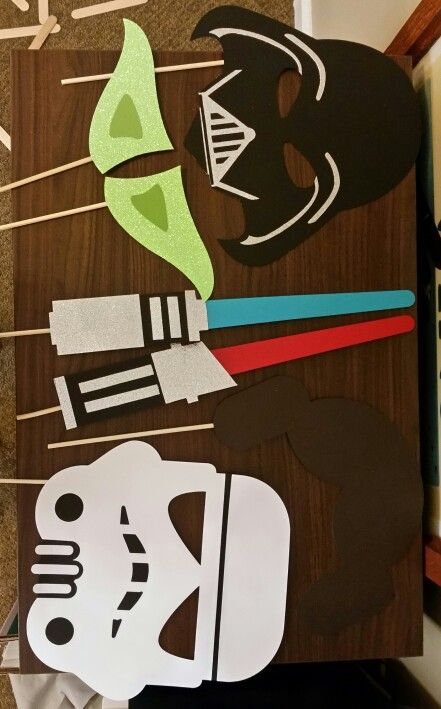 Star Wars Photo Booth Props with Cricut