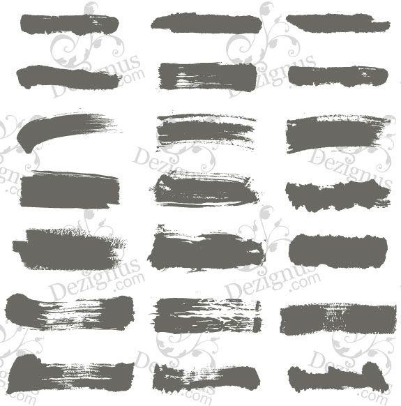 Best brush stroke inspiration images on pinterest