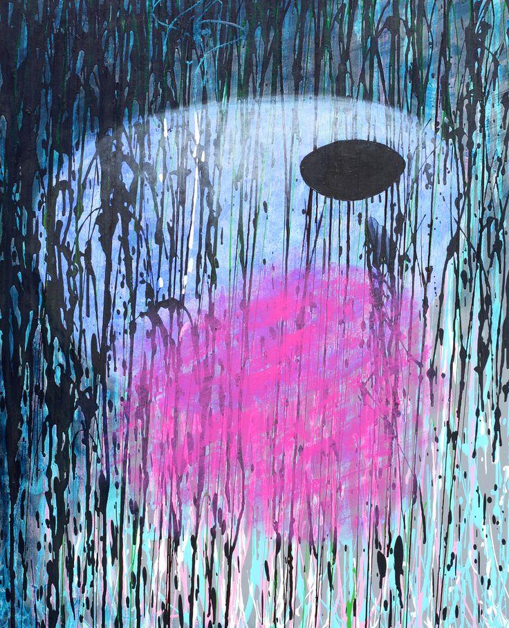 No title, acrylic on canvas, 100 x 81 cm. Maciej Zabawa