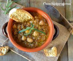 Zuppa+di+quinoa+lenticchie+e+ceci