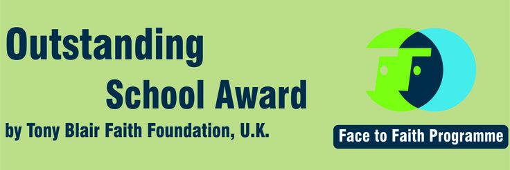 2. Outstanding School Award by Tony Blair Faith Foundation, UK