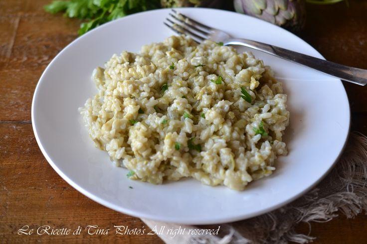 Risotto con carciofi bimby e tradizionale,un primo piatto semplice,facile e gustoso