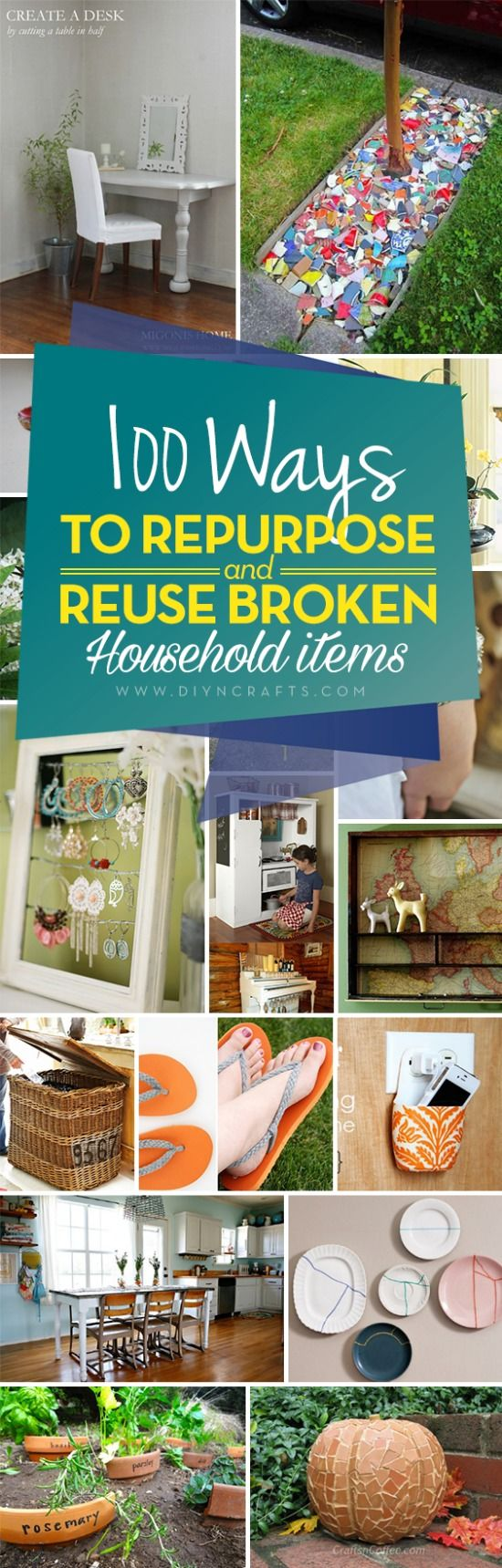 100 ways to recycle - 100 Ways To Repurpose And Reuse Broken Household Items Collection Curated By Diyncrafts Team