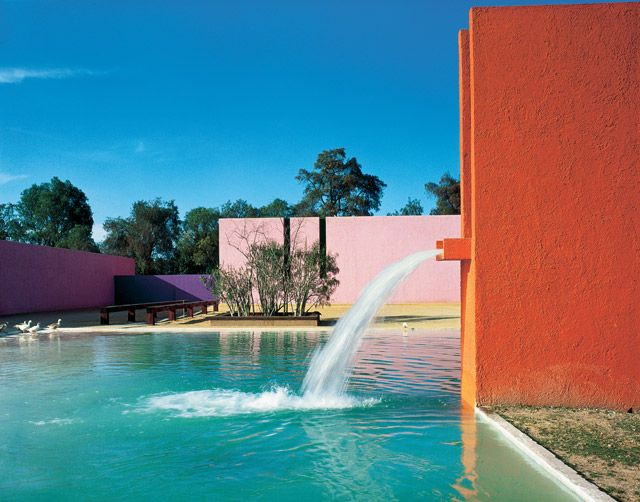 Cuadra San Cristobal, Mexico City, Mexico, 1968. Luis Barragan.