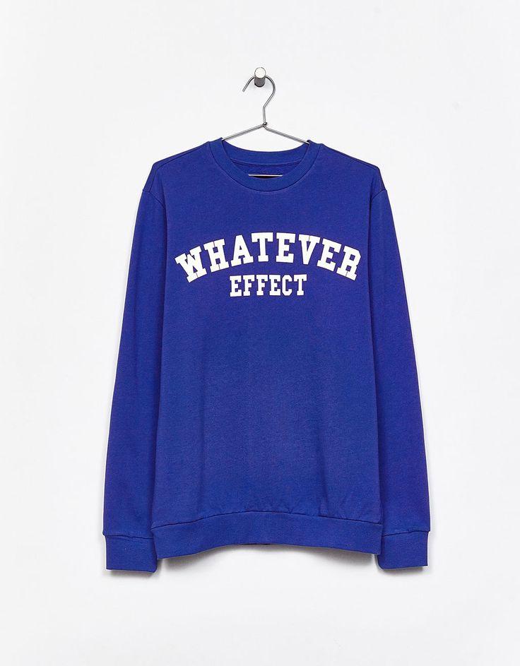 Sweatshirt mensagem 'Whatever' - Suéteres - Bershka Portugal
