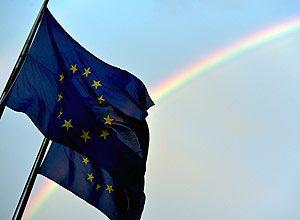 Bandeira da União Europeia em Bruxelas Eric Vidal/Reuters