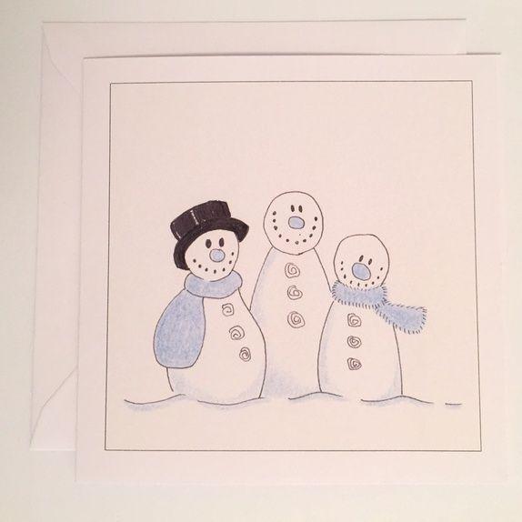 Kort: De tre snømenn