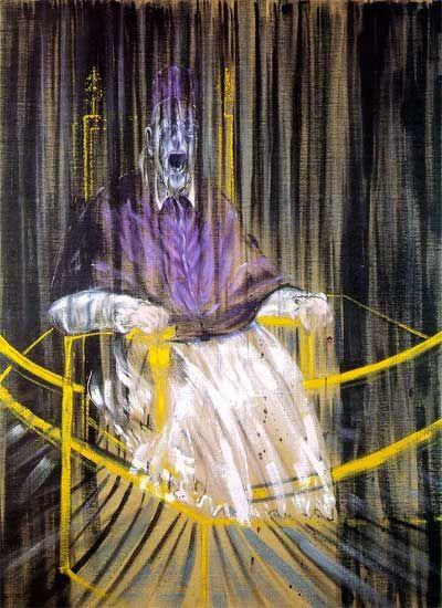 Francis Bacon - Study after Velazquez's Portrait of Pope Innocent X http://www.dzierzoniow.art.pl/wielcy/bacon/