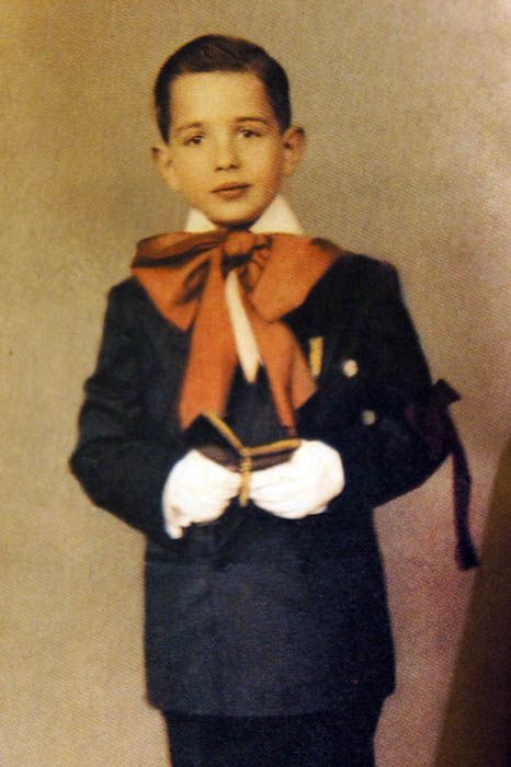 """Martin Scorsese...beautiful communion picture but I would have said """"No way are you going to put that red bow on me mom!"""""""